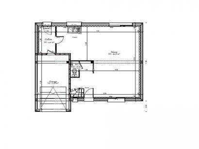 Plan de maison AVANT PROJET SARGE - Etage - 91 m² - 3 ch 3 chambres  : Photo 1