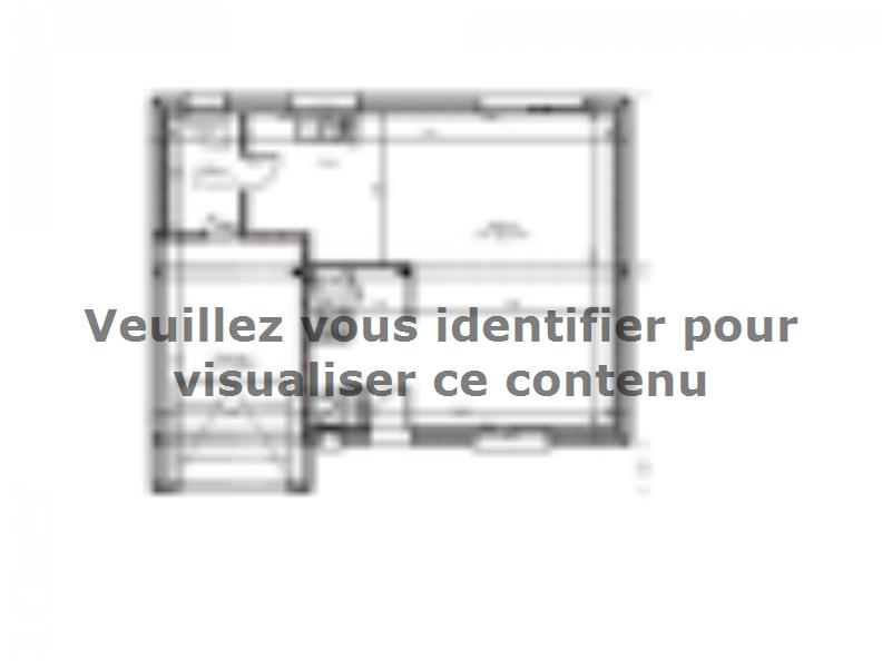 Plan de maison AVANT PROJET SARGE - Etage - 91 m² - 3 ch : Vignette 1