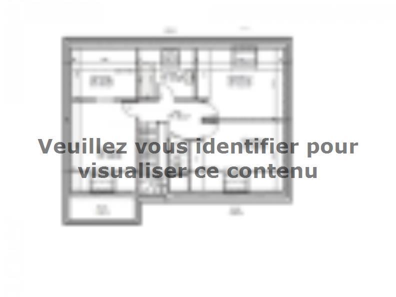 Plan de maison AVANT PROJET SARGE - Etage - 91 m² - 3 ch : Vignette 2