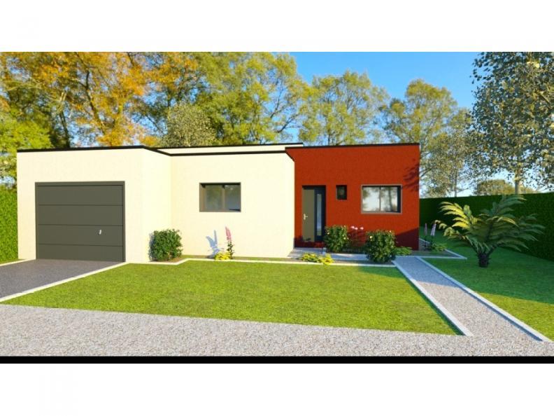 Modèle de maison AVANT PROJET VAAS - 103 M²  - 2 chambres et 1 bure : Vignette 1