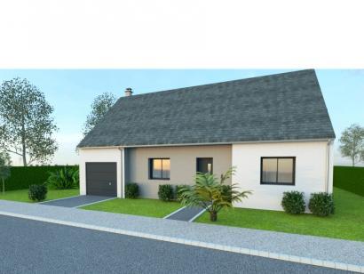 Modèle de maison AVANT PROJET VIBRAYE - 76 m² - 2 ch CA 2 chambres  : Photo 1