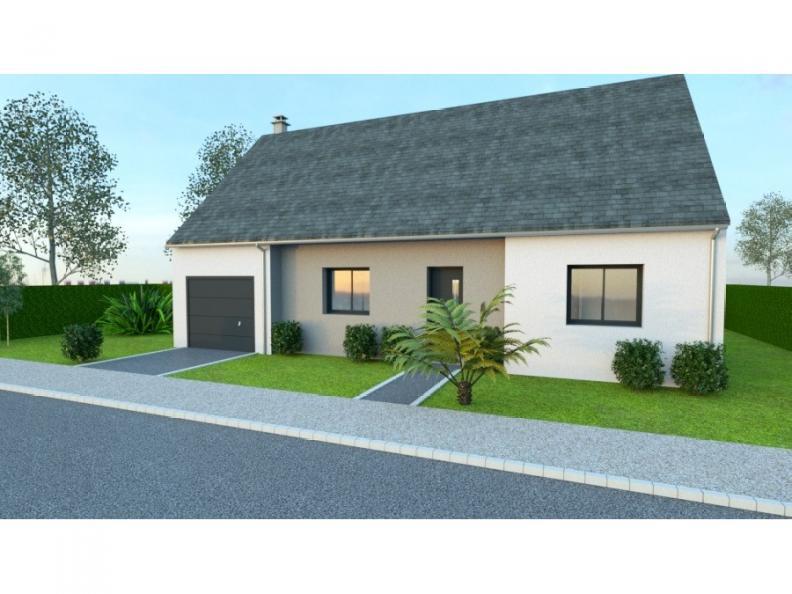 Modèle de maison AVANT PROJET VIBRAYE - 76 m² - 2 ch CA : Vignette 1