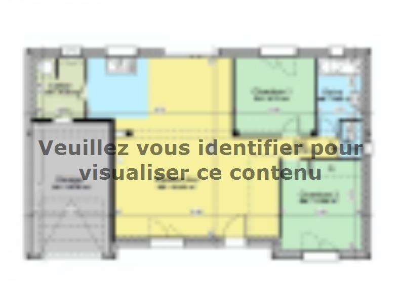 Plan de maison AVANT PROJET VIBRAYE - 76 m² - 2 ch CA : Vignette 1