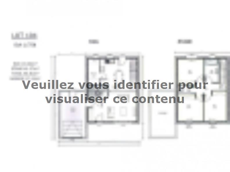 Plan de maison AVANT PROJET ZAC CARTOUCHERIE LE MANS - Lot 104 - : Vignette 1