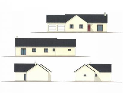 Plan de maison PLP_L_GA_104m2_4ch_P13268 4 chambres  : Photo 1