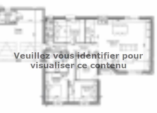 Plan de maison PLP_L_GA_104m2_4ch_P13268 : Vignette 2