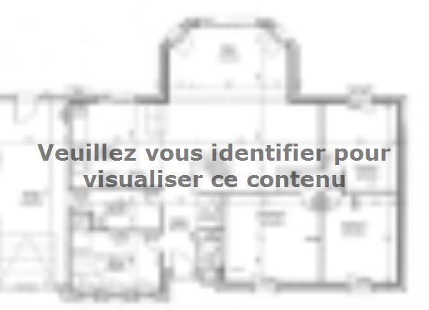 Plan de maison ETG_BW_GI_CA_110m2_3ch_P13345 : Vignette 1