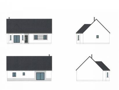 Plan de maison ETG_BW_SG_CA_91m2_2ch_P14238 2 chambres  : Photo 1