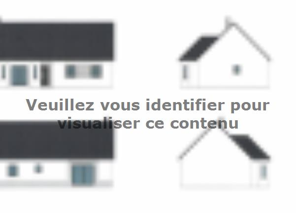 Plan de maison ETG_BW_SG_CA_91m2_2ch_P14238 : Vignette 1