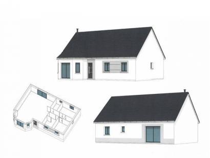 Plan de maison ETG_BW_SG_CA_91m2_2ch_P14238 2 chambres  : Photo 2