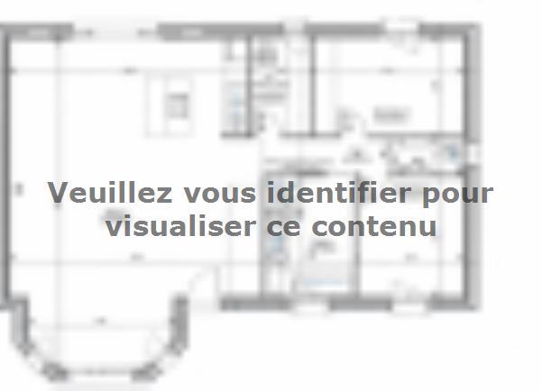Plan de maison ETG_BW_SG_CA_91m2_2ch_P14238 : Vignette 3