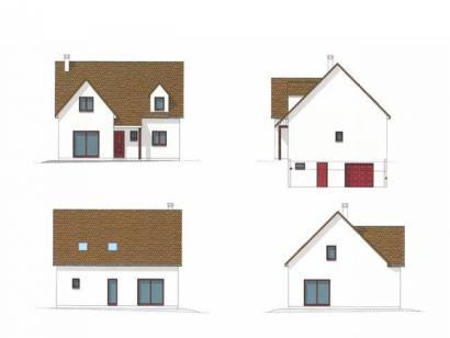 Plan de maison ETG_L_SS_125m2_4ch_P13225 4 chambres  : Photo 1
