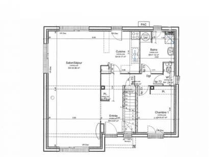 Plan de maison ETG_L_SS_125m2_4ch_P13225 4 chambres  : Photo 3