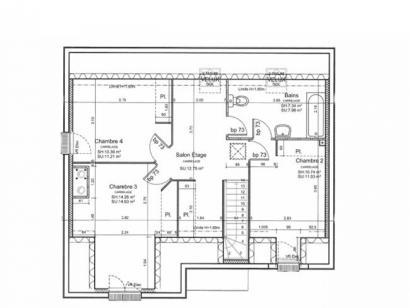 Plan de maison ETG_L_SS_125m2_4ch_P13225 4 chambres  : Photo 4