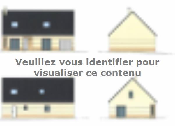 Plan de maison ETG_R_CA_GI_73m2_1ch_P13310 : Vignette 1