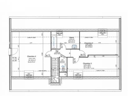 Plan de maison ETG_R_CA_GI_73m2_1ch_P13310 1 chambre  : Photo 3
