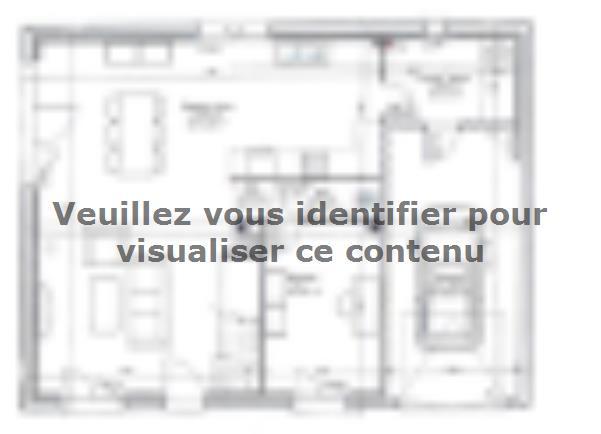 Plan de maison ETG_R_GI_103m2_3ch_P13249 : Vignette 1