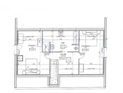 Plan de maison ETG_R_GI_103m2_3ch_P13249 3 chambres  : Photo 2