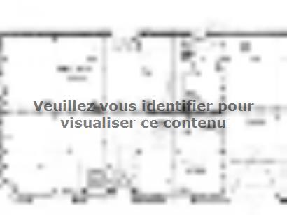 Plan de maison ETG_R_GI_113m2_3ch_P13528 3 chambres  : Photo 1