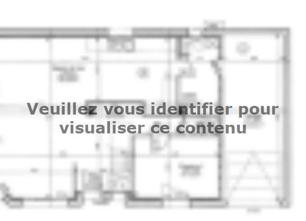 Plan de maison ETG_R_GI_113m2_3ch_P13528 : Vignette 1