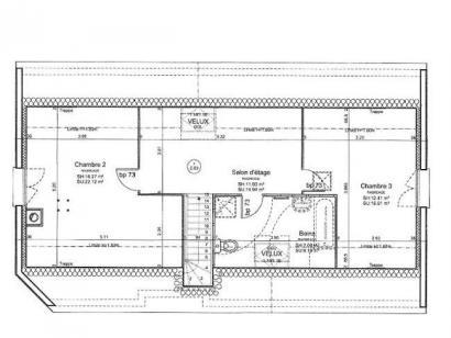 Plan de maison ETG_R_GI_113m2_3ch_P13528 3 chambres  : Photo 2