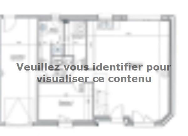 Plan de maison ETG_R_GI_CA_61m2_1ch_P14082 : Vignette 1