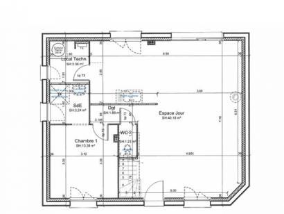 Plan de maison ETG_R_SG_95m2_3ch_P13586 3 chambres  : Photo 2