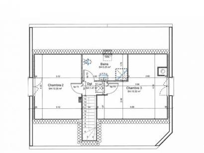 Plan de maison ETG_R_SG_95m2_3ch_P13586 3 chambres  : Photo 3