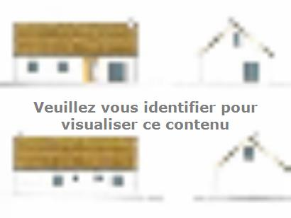 Plan de maison ETG_R_SG_CA_85m2_3ch_P13515 3 chambres  : Photo 1