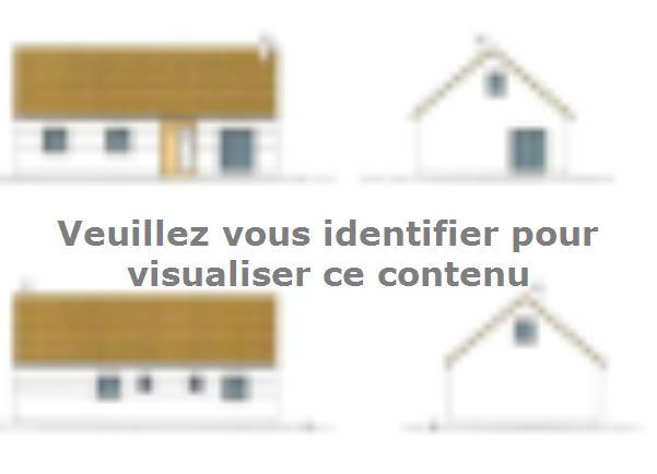 Plan de maison ETG_R_SG_CA_85m2_3ch_P13515 : Vignette 1