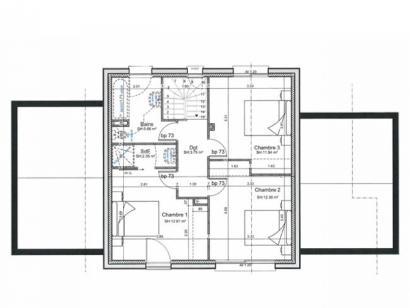 Plan de maison ETG_TT_GA_115m2_3ch_P13826 3 chambres  : Photo 3