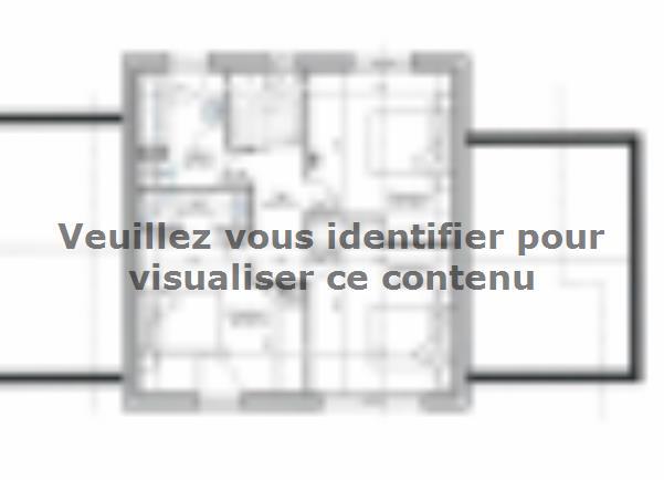 Plan de maison ETG_TT_GA_115m2_3ch_P13826 : Vignette 3