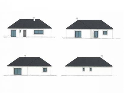 Plan de maison PLP_L_SG_135m2_4ch_P13847 4 chambres  : Photo 2