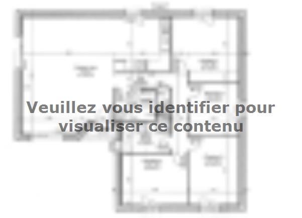 Plan de maison PLP_L_SG_94m2_4ch_P13265 : Vignette 1