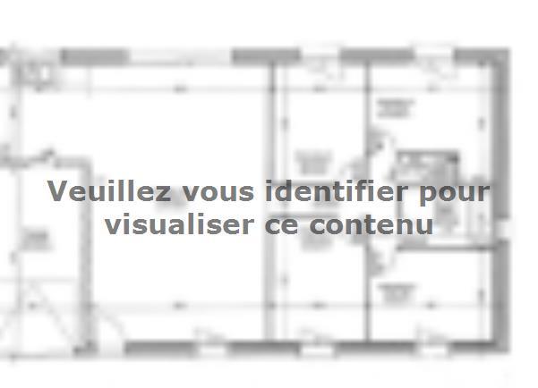 Plan de maison PLP_R_GI_97m2_4ch_P12885 : Vignette 1