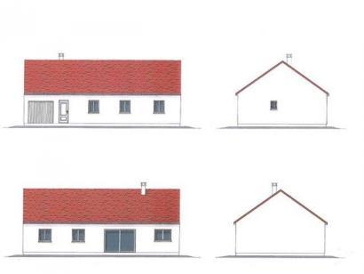 Plan de maison PLP_R_GI_97m2_4ch_P12885 4 chambres  : Photo 2