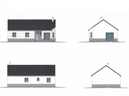 Plan de maison PLP_R_SG_83m2_3ch_P13214 3 chambres  : Photo 1