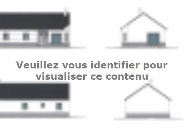 Plan de maison PLP_R_SG_83m2_3ch_P13214 : Vignette 1