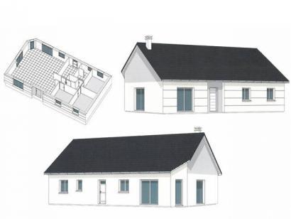 Plan de maison PLP_R_SG_90m2_3ch_P13319 3 chambres  : Photo 1