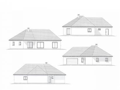 Plan de maison PLP_V_GA_120m2_4ch_P13266 4 chambres  : Photo 1