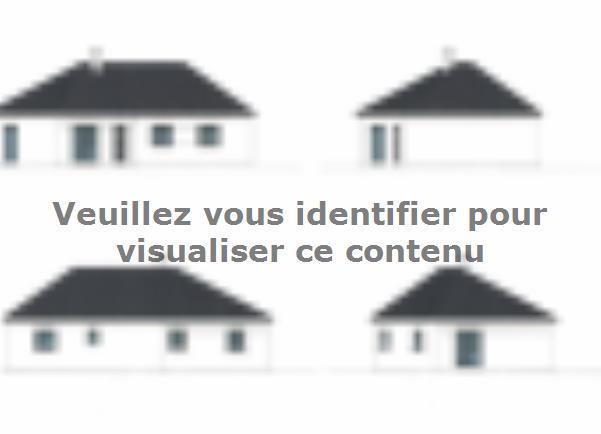 Plan de maison PLP_V_SG_97m2_3ch_P13507 : Vignette 1